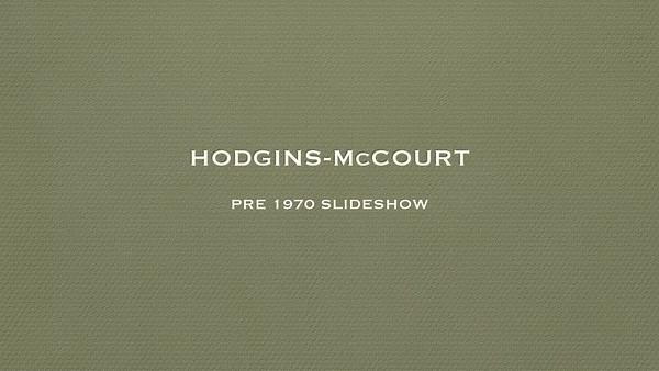 HODGINS-McCOURT PRE 1970