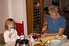 Grandmom serves the pies