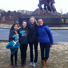 KILEY AND FRIENDS AT THE IWO JIMA MEMORIAL IN WASHINGTON, D.C.