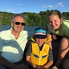 SUNSET ON LAKE GALENA ... GRAMPS, TRISTAN AND CAMI