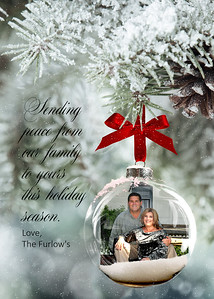5x7 Photo Card - Frosted Glass Ornament