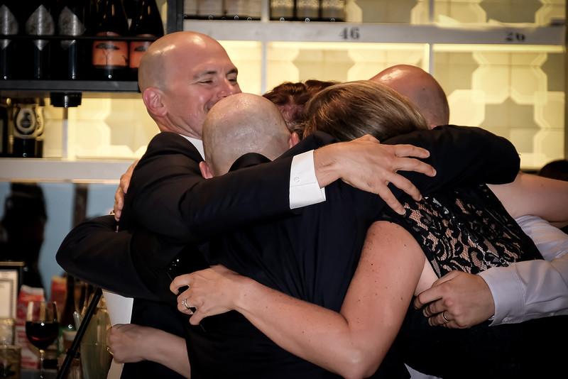 The Kresta huddle after the Toast