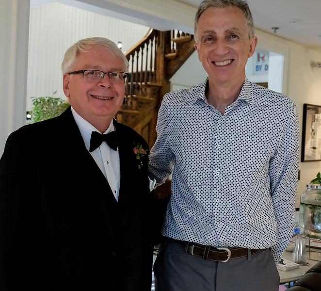 Ed Streich with Mel Battison