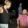 Liz S chatting with Joe's brother Rick Kresta