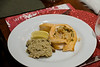 Stuffed Salmon with Risotto - delish!