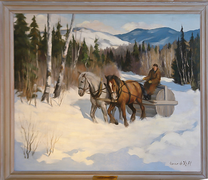 A painting by notable Quebec painter Oscar de Lall - hangs in our home.