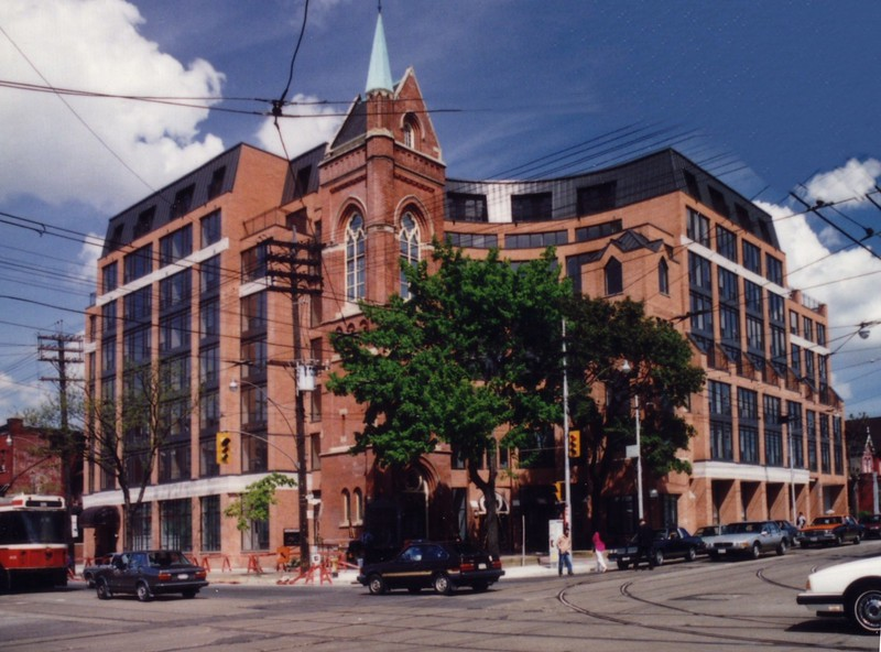 The new College Street United Church, now with 89 condos above - completed in 1991 JS