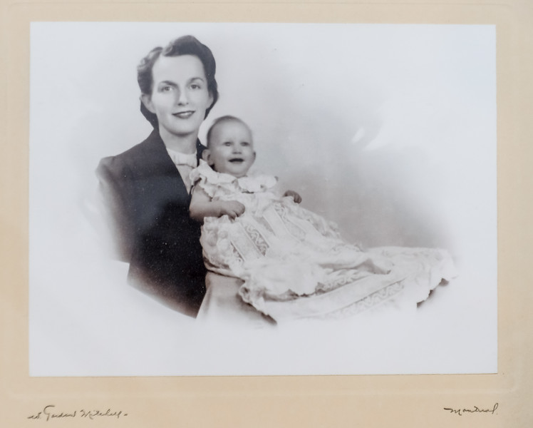 John after Christening in 1944 with Mum (Lucy S)