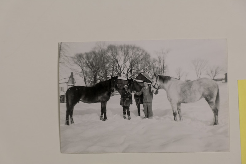 Hans, from Switzerland, came to Canada with his wife Bia. Dad had a cottage nearby built for them and they helped us with our horses and running the home. I'm here with Inchcape,  Comboy and Lady Gray .
