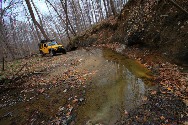 2011_04_05 Colin and Jeep down at the creek