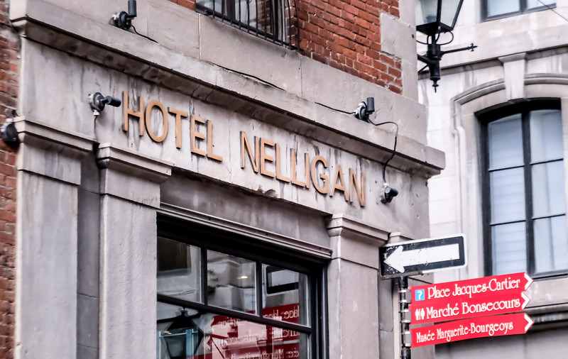 Liz and I stayed at the lovely Hotel Nelligan - highly recommended.