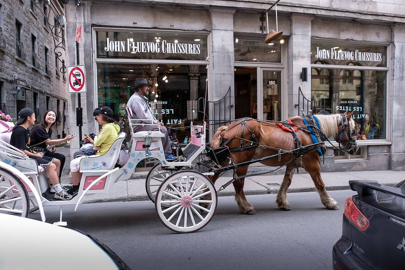 Liz and I spent the next morning strolling through Old Montreal, enjoying the sights, the classical architecture and,  of course, tourist watching!