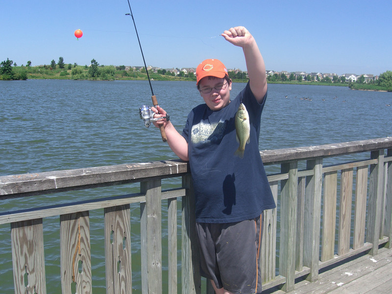 NICE LARGE-MOUTH BASS CAUGHT BY THOMAS AT THE GLEN LAKE
