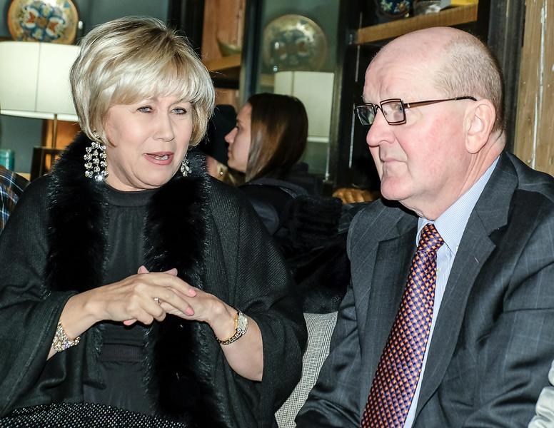 My lovely wife Liz with Ed Kukiel, Jordan's uncle.