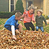 MEANWHILE, BACK HOME, FUN WITH A MOUNTAIN OF LEAVES