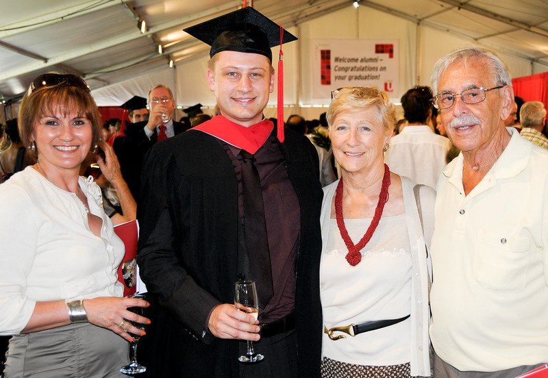 Matthew graduating with his MBA from the Schulich School of Business