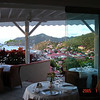 RESTAURANT OVERLOOKING GUSTAVIA,CAPITAL OF ST BARTH