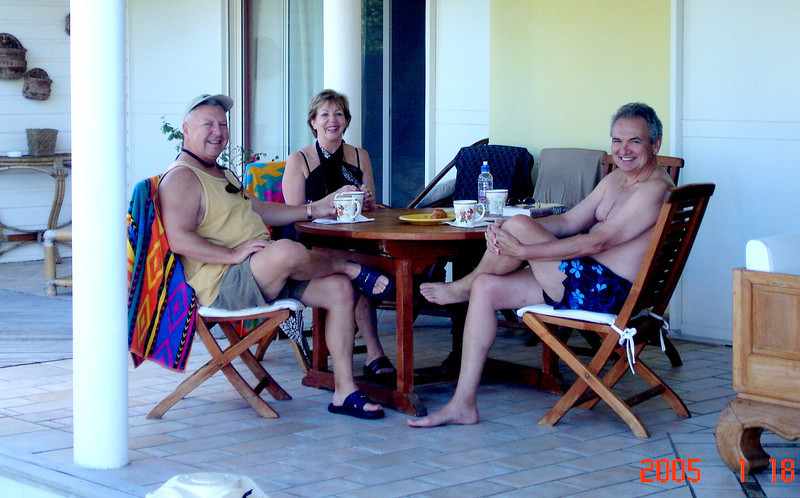 BREAKFAST AT OUR VILLA WITH THE HUNTERS