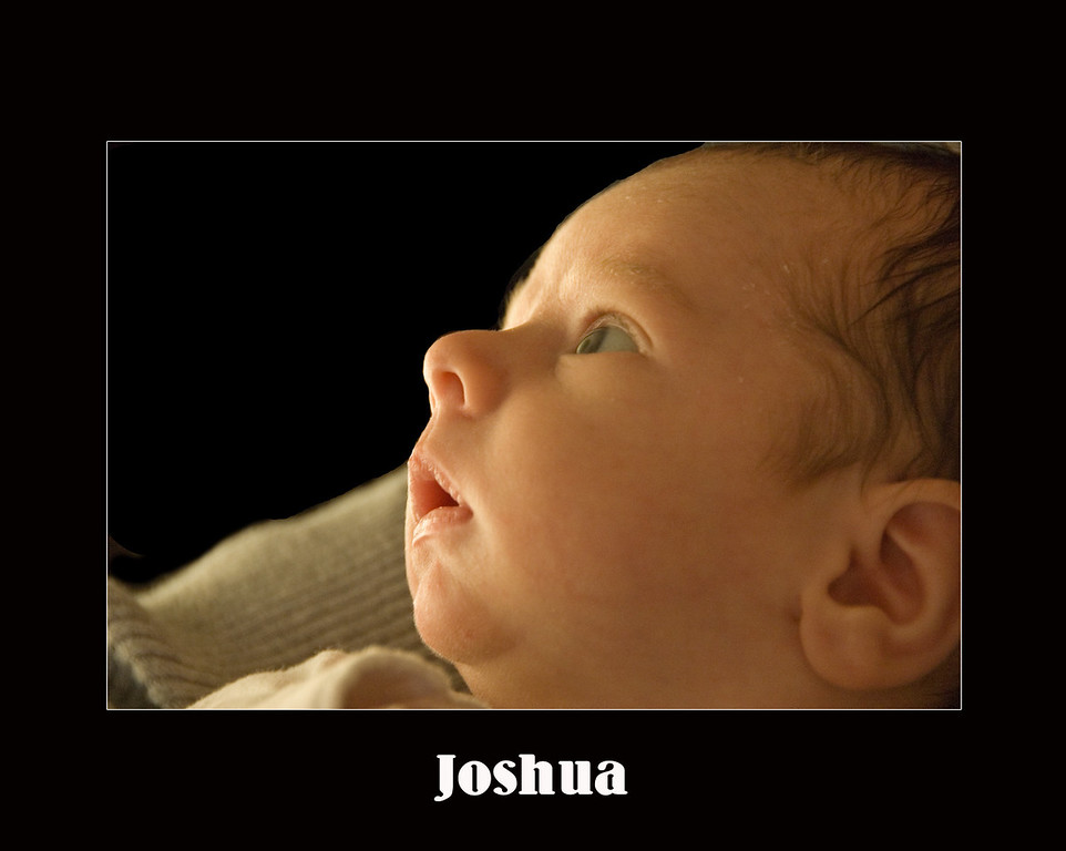 Joshua - one month old.