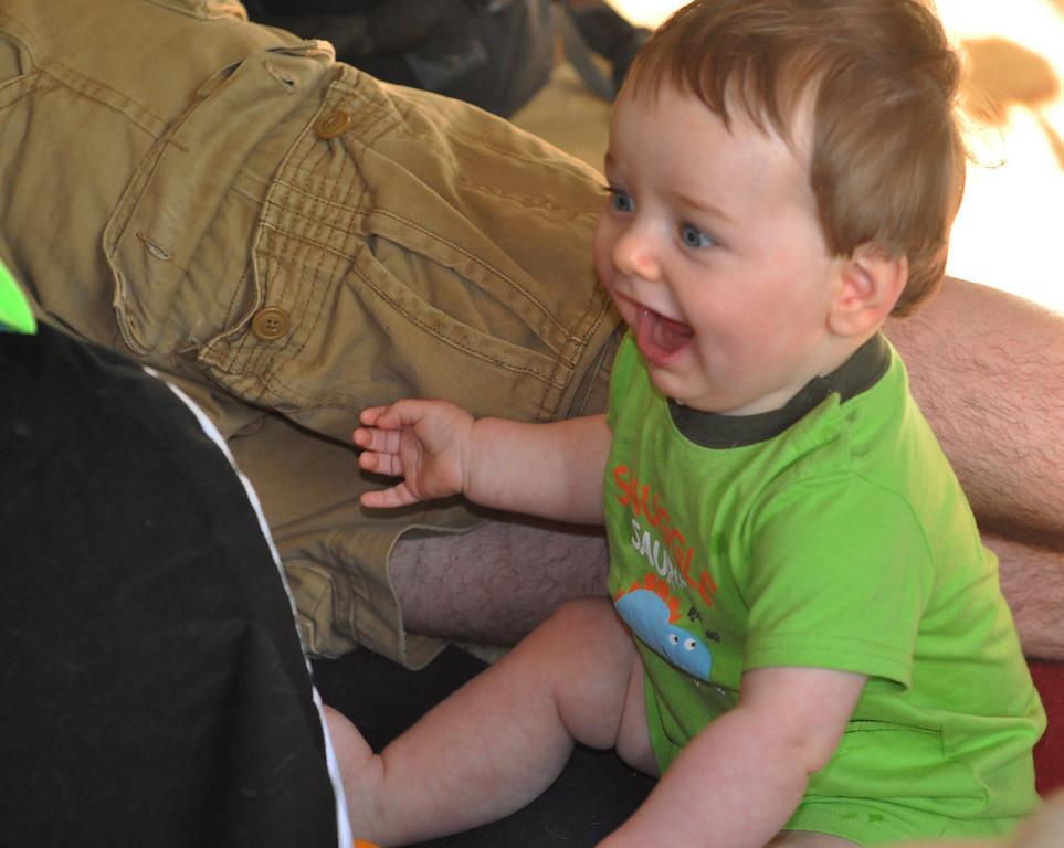 HA HA - he giggles like me...