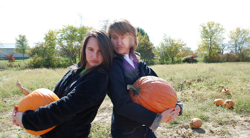 Yo!! Don't mess with our pumpkins!