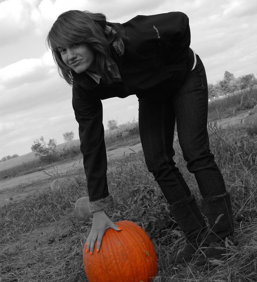 When one is looking for the perfect pumpkin one must be orange like the pumpkin!