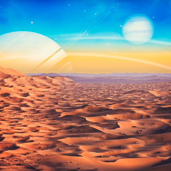 Another world view, abstract natural backgrounds. NASA imagery used