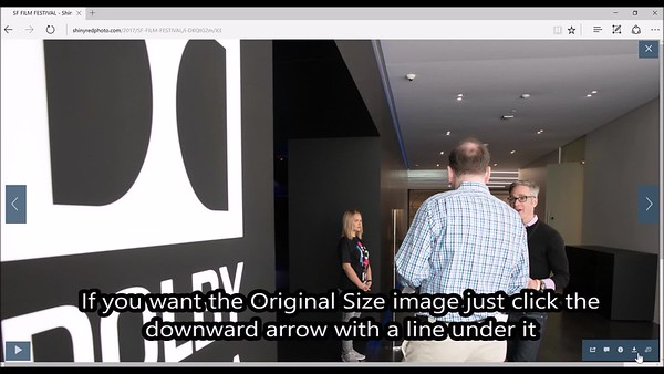 How to download a different size image.