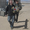 Cal-Poly Pomona 2012 USLI students carrying finished rocket to Quonset Hut