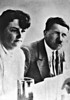 ADOLF HITLER AND GELI RAUBAL - Angela 'Geli' Raubal was Adolf Hitler's half-niece, daughter of his half-sister. In 1925, when Geli was 17, her mother became Hitler's housekeeper. moving with him to the Berghof in 1928. Eventually she became a virtual prisoner in Hitler's Muinich apartment and on September 18th, 1931, she shot herself through the lung with Hitler's pistol and died. Hitler later claimed that she was the only woman he ever loved and had photographs of her in his houses.