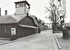 AUSCHWITZ - The gate 'Arbeit Macht Frei' in the Main Camp. Prisoners passed it every day on the ay to work.