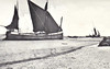 DUNKERQUE 1940 - THE BEACH - Two Thames Spritsail Barges ashore after the evacuation in May 1940. 16 Thames barges went to Dunkerque and no less than 9 were lost during the operation.