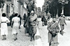 FOR YOU THE WAR IS OVER! - French prisoners-of-war make their way to the rear. Note the black soldier on the right.