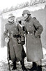 GUARD DUTY IN THE SNOW - I suspect that these two soldiers are in Russia. Note the ice on the moustache of the man on the left and his huge mittens.