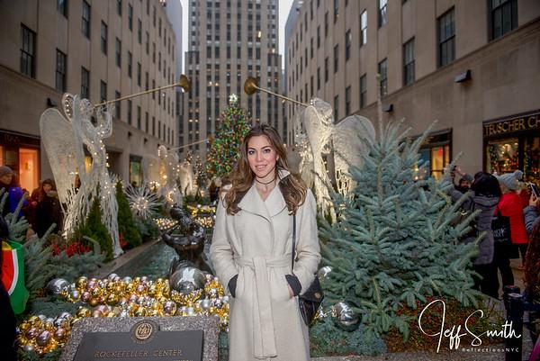 Eleonora Pieroni NYC Christmas & Snow photoshoot