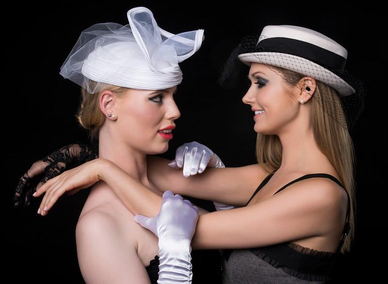 Models: Charlotte Reardon and Jill Sydney McPhee, MUA: Ximena Ocha, Stylist: Alison Friedman