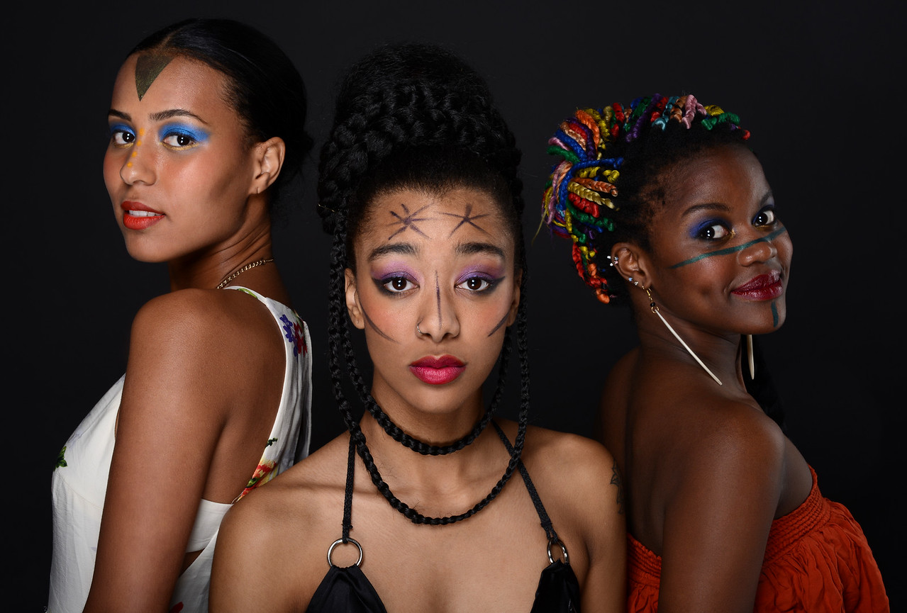 Model: Amber Jhane, Barbara Andre, Joanna Amaru;  Makeup: Manuela Hererra, Hair Styling: Ebone Alloway