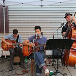 The Musical Mayhem provided musical entertainment during Fat Friday Trolley Hop.