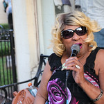 Tanita Gaines sang during the Fat Friday Trolley Hop.