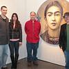 Adam Casson, Sahiba Chandel, Joe McGe and Gallery Owner Chuck Swanson.