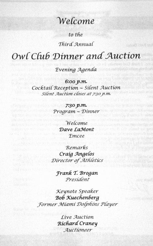 FAU Owl Club 3rd Annual Dinner and Auction- 14