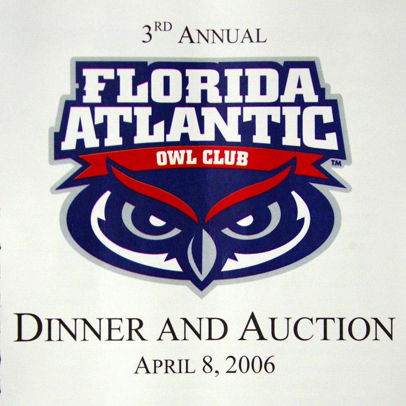 FAU Owl Club 3rd Annual Dinner and Auction
