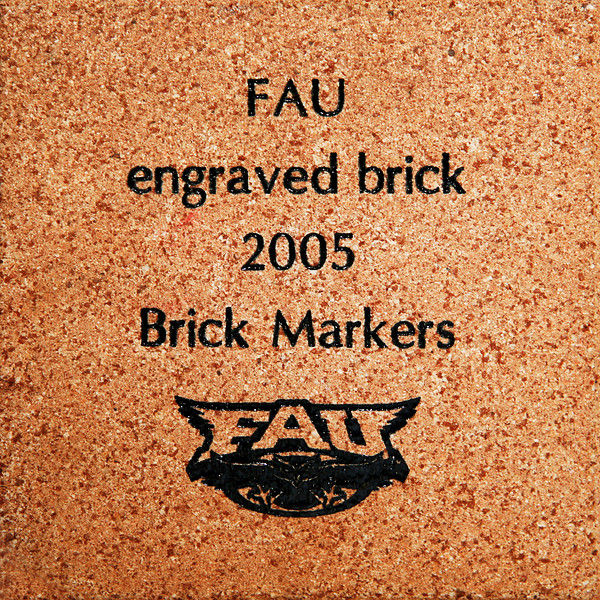 """PAVING THE WAY FOR THE FUTURE OF FAU...LITERALLY  <br /> <br /> Brick Sidewalk Fund Raising Campaign:  The FAU Student Alumni Association (SAA) is offering everyone a chance to purchase bricks and have them engraved with a person's name, an organization's name or a special message. These bricks will create a sidewalk that will lead into the proposed FAU Football Stadium.  Anyone purchasing a 4x8"""" or 8x8"""" brick will receive a corresponding 1x3"""" or 3x3"""" mini brick replica that will include a personalized, Vitrix® Blue engraving. All bricks are guaranteed and will be used in conjunction with the proposed FAU Football Stadium. For any another questions, please contact Paul Metcalf at 561-297-1248 or metcalf@fau.edu. The estimated fair market value of the goods and services you received in exchange for your payment is $30 (4x8"""" brick + replica) or $42 (8x8"""" brick + replica).  Therefore, the tax-deductible portion of your payment is $45 (4x8"""" brick + replica) or $83 (8x8"""" brick + replica). Go to this link to complete the FORM for your Brick.  Please note on the form that you were referred by JimWilson's web-site so we know how your came to make your valued contribution; and please note, we receive no referral fees whatsoever. Marilyn and I purchased a number of large bricks too.  <a href=""""http://fauf.fau.edu/NetCommunity/Document.Doc?&id=580"""">http://fauf.fau.edu/NetCommunity/Document.Doc?&id=580</a>"""
