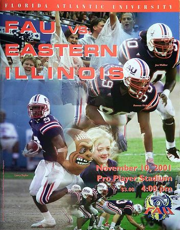 1 FAU -Eastern Illinois 10 Nov 01- 000
