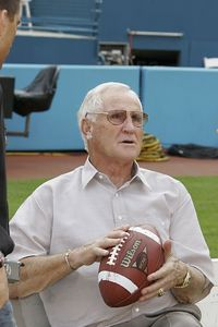 Don Shula at Pro Player Stadium preparing for the opening Coin-Toss commencing the 3rd annual FAU vs FIU match-up December 4, 2004