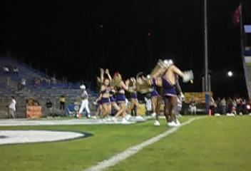 FAU Football vs New Mexico State 13 November 2004 - A moment of the sights and sounds of  FAU's cheer leaders.
