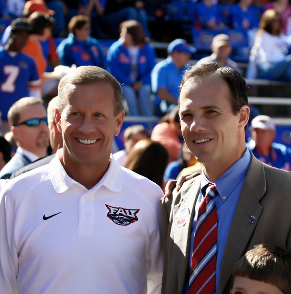 FAU President, Frank T. Brogan '81, with FAU Athletic Director, Craig Angelos