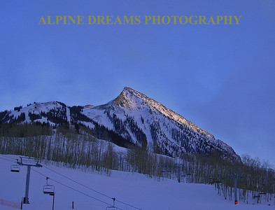 Late Day Shadows  at Crested Butte Co.