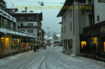 Winter Streets of Cortina Italy!