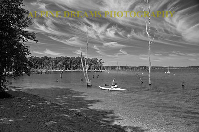 KAYAK-DEAD-TREES-BW